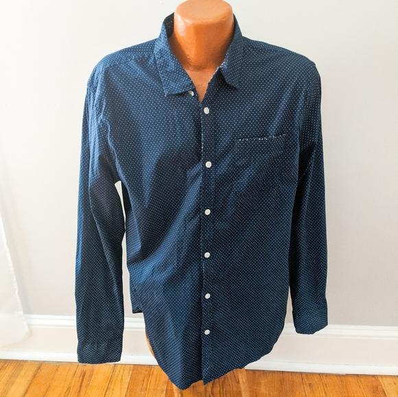 Paper Denim & Cloth Polka Dot Button Down Shirt